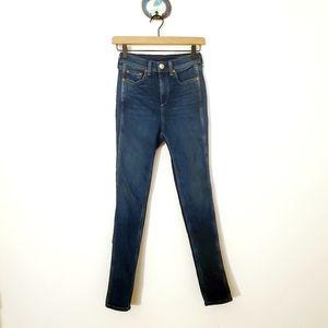 Rag & Bone Super High-rise Midwash Skinny Jean